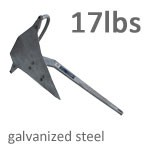 Mantus 17 Pound Galvanized Steel Anchor