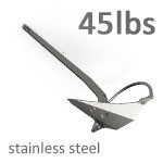 Mantus 45 Pound Stainless Steel Anchor