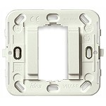 Vimar Idea Frame 1M Smooth W/O Screws for Round or Square Flush in White