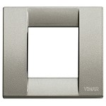 Vimar Idea 1 Gang Square Face Plate | Single Module Titanium Cover Plate