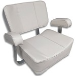 Upholstered Captain's Chair with Aluminum Construction