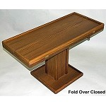 Adjustable Teak Table with Fold Over Leaves