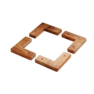 SeaTeak Teak Cooler/Box Chocks - 4 Pack