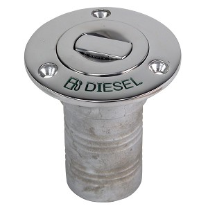 "Whitecap Bluewater Push Up Deck Fill - 1-1/2"" Hose - Diesel"