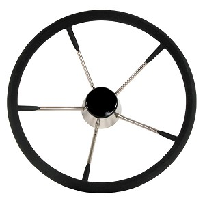 "Whitecap Destroyer Steering Wheel - Black Foam - 13-1/2"" Diameter"