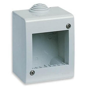 Vimar Idea IP40 Enclosure | 2 Module Electrical Box