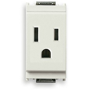 Vimar Idea Outlet, USA-Arabian, 2P+E, 15A-127V, Grey, Vimar