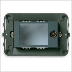 Vimar Idea Mounting Frame with Screws and Lockable Door, 2 Modules, Clear Lid, 2 x 000 Unified Code Keys Included, Vimar