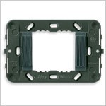 Vimar Idea Mounting Frame with Grooved Front, 2 Modules, Grey, No Screws, Vimar