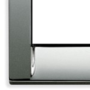 Vimar Idea Square Cover Plate, Die-Cast Metal, Chrome 36, 2 Module, Vimar