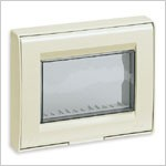 Vimar Idea IP55 Cover, 3 Modules, Ivory, Vimar