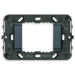 Vimar Idea Mounting Frame with Smooth Front, 2 Modules, Grey, No Screws, Vimar