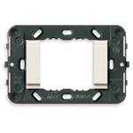Vimar Idea Mounting Frame with Smooth Front, 2 Modules, White, No Screws, Vimar