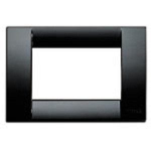 Vimar Idea Square Cover Plate, Technopolymer, Black 16, 3 Modules, Vimar