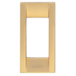 Vimar Idea Square Cover Plate, Die-Cast Metal, Polished Gold 32, 3 Modules, Vimar