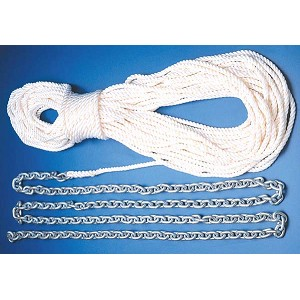 Imtra Pre-Spliced Anchor Rode | 20 ft. 1/4 in. G43 Chain | 100 ft. 1/2 in. 3-Strand Anchor Line