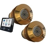 Lumishore TIX802-CCP-FF-2, Set of 2 x EOS 106W Thru-Hull UW Lights w/EOS STV Controller