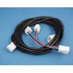 Side-Power Control harness and Y connector, 4-wire, 4m