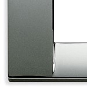 Vimar Idea Square Cover Plate, Die-Cast Metal, Chrome 36, 4 Modules, Vimar