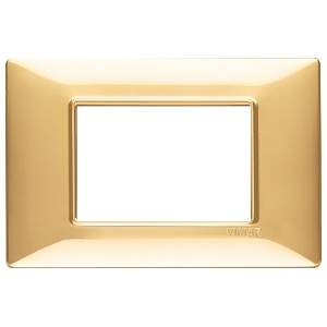 Vimar Plana 14653 - Plate 3M techn. polished gold