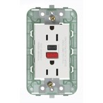 Vimar Plana 14296 - USA White, Duplex Outlet with GFCI 2P+E 15A