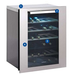 Isotherm Divino Wine Cellars with 35 Bottle Capacity - 220V-50hz