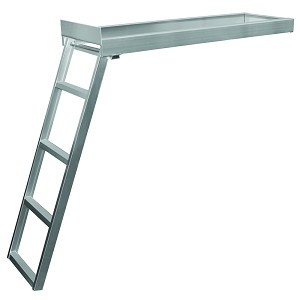 JIF Marine 4 or 5 Step Under-Deck Mounting Pontoon Ladder | Round or Flat Front