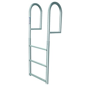 JIF Marine Stationary Dock Ladder | 3, 4, 5 or 7 Steps, 2 or 4 Inch Depth Choices
