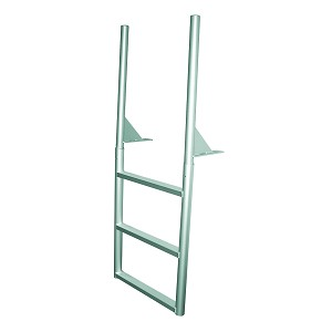 JIF Marine Finger Pier Dock Ladder | 3-7 Steps with 2-4 Inch Deep Step Choices