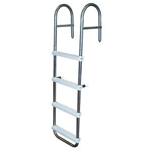 JIF Marine 4-Step Boarding Ladder for Pontoons | 300 Pound Capacity