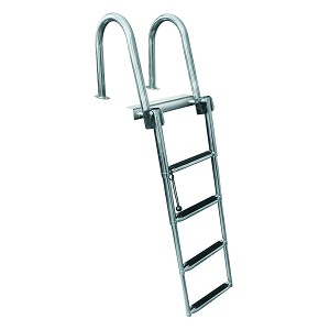 Jif Marine 4 Step Stainless Steel Rear Entry Ladder With