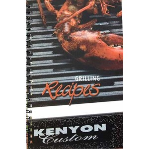 Kenyon Recipe Book for All Seasons Grills. Full color photos, laminated pages, step-by-step instructions.