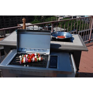 Kenyon Frontier Grill | Built-In Electric Grill with Half-Sized Lid