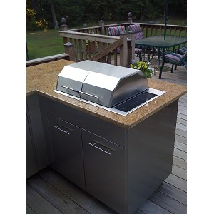 Kenyon Texan Grill  | Split Lid, Built-In Electric Grill