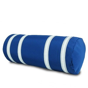 Nautical Stripe Bolster Pillow Cover - Blue or Red and White