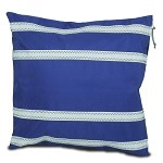 Nautical Stripe Casual Pillow Cover - Blue or Red and White