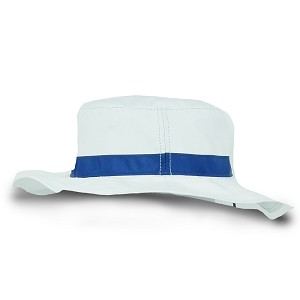 Newport Men's Hat, white with Blue trim