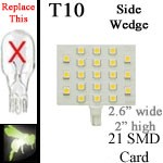12 volt LED Bulbs | 21 SMD | T10 921 Wedge Rectangle