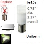 12 volt Single Bayonet LED | Uniform x2 | ba15s