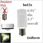 12 volt Single Bayonet LED | Uniform x3 | ba15s