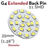 15 SMD G4 Extended Back Pin LED Bulb | 2.2 Watt 10-30 VDC LED