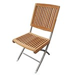 Seateak Barnegat 60069 Folding Teak Chair with Stainless Steel legs