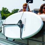 SurfStow SUPRAX™ Single Board Pontoon-Rail Mounting Storage System